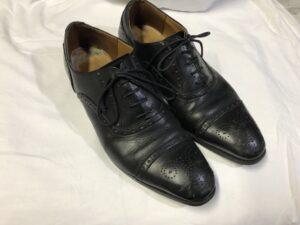 紳士靴 つま先キズ補修